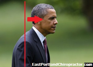 Bad Posture shown by Barack Obama