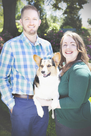 chris cooper and charlotte the portland corgi