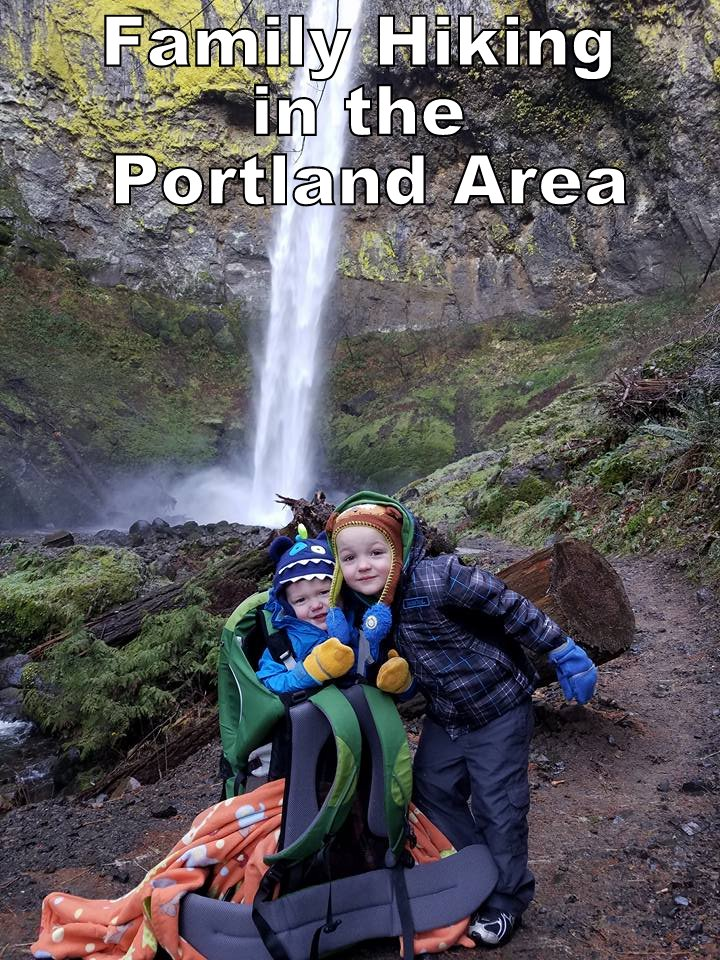 family hiking in the portland area